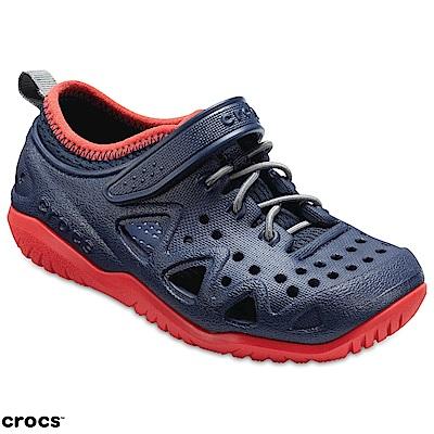 Crocs 卡駱馳童鞋 激浪涉水涼鞋 204989-410