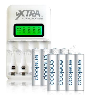 國際牌eneloop 3號充電電池(8顆入)+VXTRA LCD 充電器