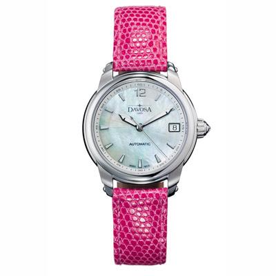 DAVOSA Ladies Delight 系列 經典時尚腕錶-白x粉色錶帶/34mm