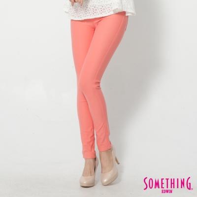 SOMETHING LADIVA 合身窄直筒色褲-女-桔紅