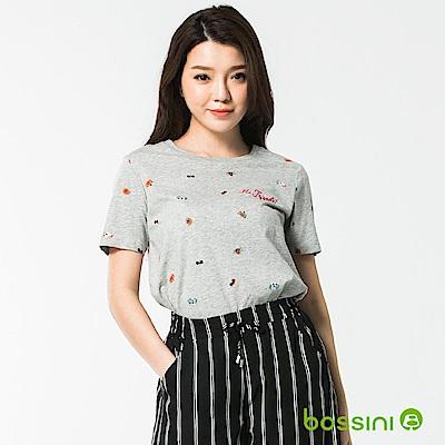 bossini女裝-圓領短袖上衣18淺灰