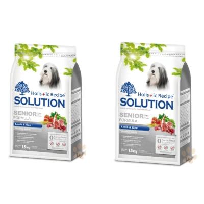 耐吉斯SOLUTION 高齡犬 羊肉田園蔬菜配方1.5kg (2包組)