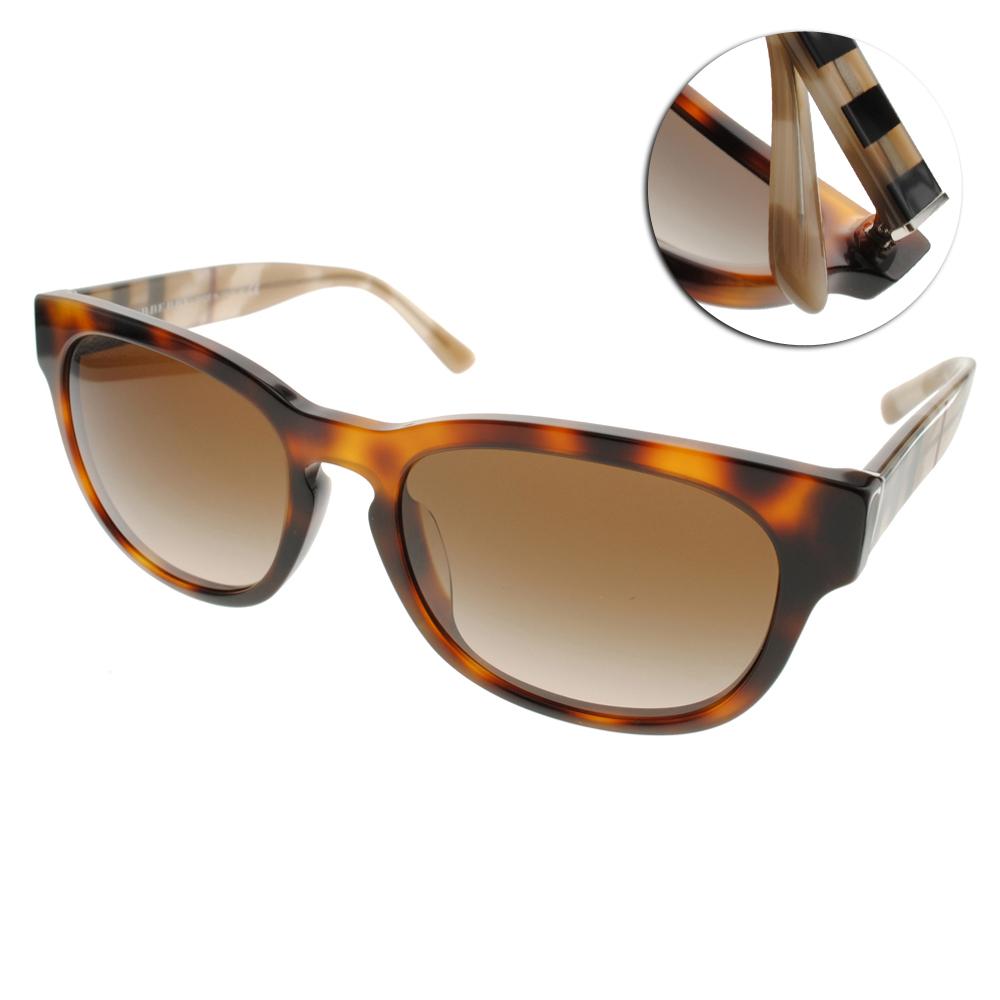 BURBERRY太陽眼鏡 經典格紋/琥珀#BU4226F 360113