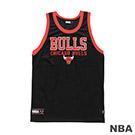 NBA-芝加哥公牛隊經典印花長版背心-黑