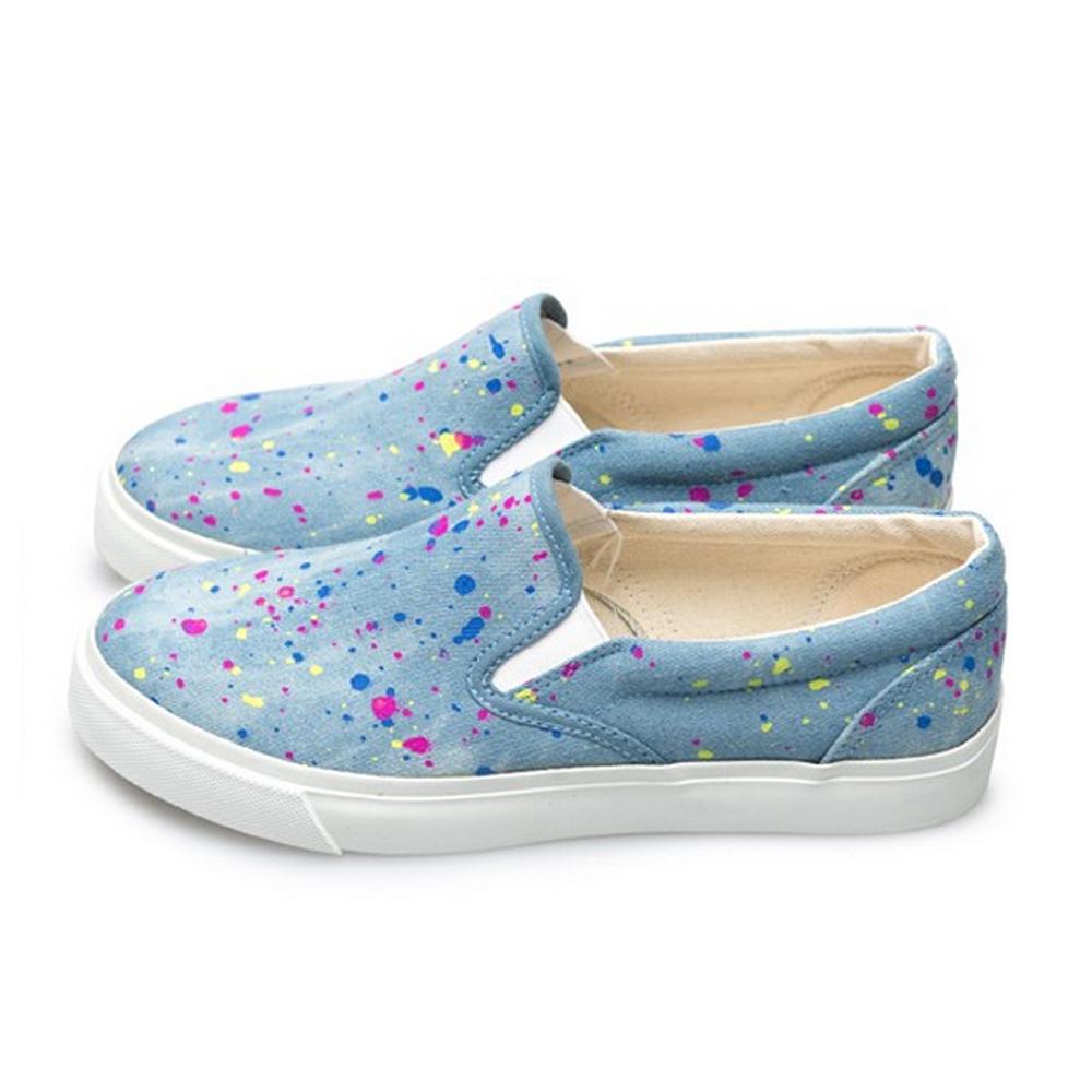 FUFA  MIT 街頭時尚懶人鞋 (U61)-點淺藍