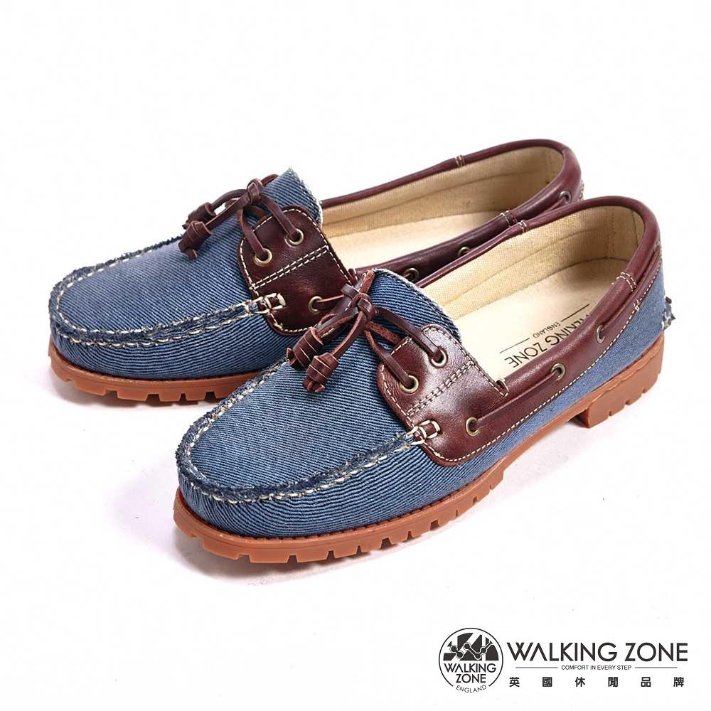 【WALKING ZONE】情侶款復刻拼接雷根鞋(藍色) -女鞋