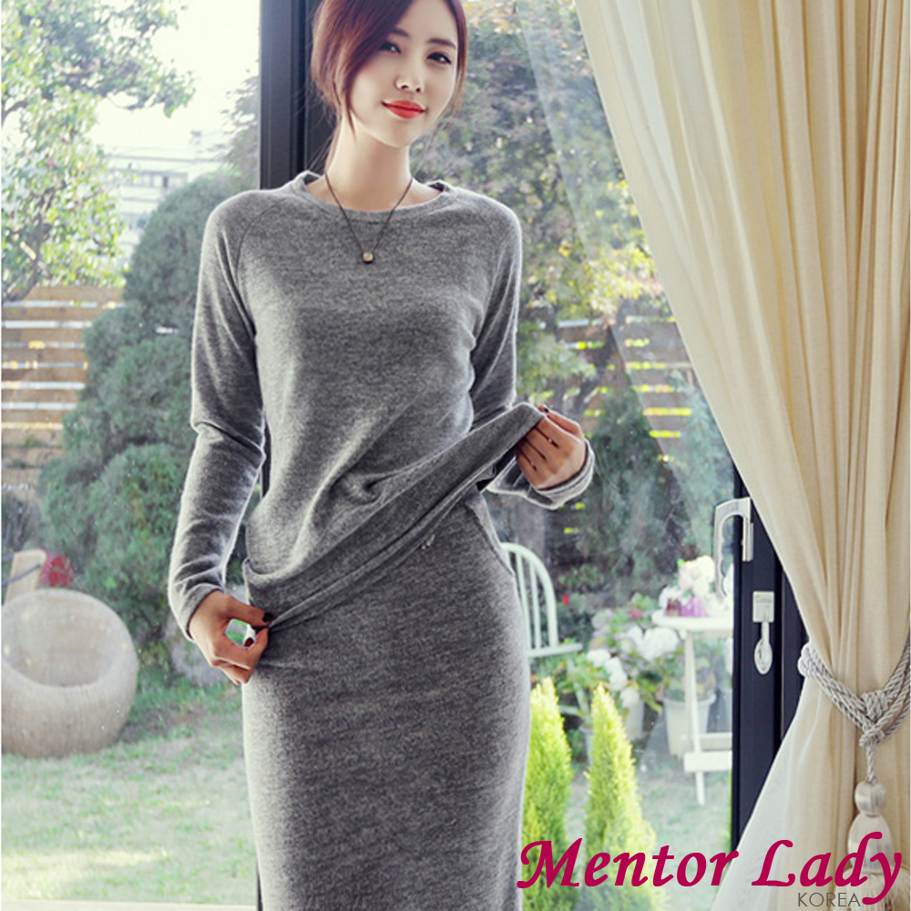 Mentor Lady-抽繩綁帶棉毛休閒套裝 (灰色)