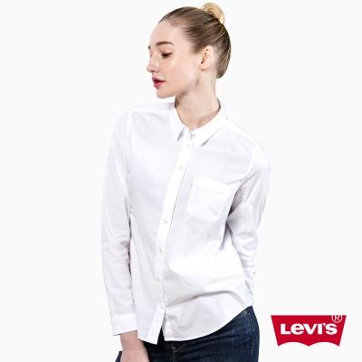 女款長袖襯衫-延續款-白-Levis
