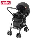 (清倉下殺)Aprica 輕量四輪嬰幼兒手推車-LUXUNA CTS 前瞻系列(迷彩黑BK)