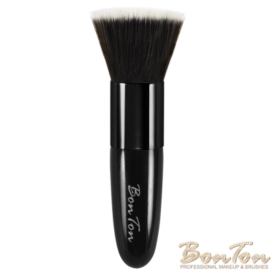 BonTon 經典系列 拋光式粉底、蜜粉、粉餅、洗臉刷 時尚釉黑BLB01