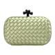 BOTTEGA VENETA 經典SATIN KNOT緞面編織設計手拿包(淡綠色) product thumbnail 1