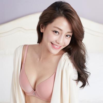 華歌爾-輕柔記形D罩杯內衣(柔粉紅)