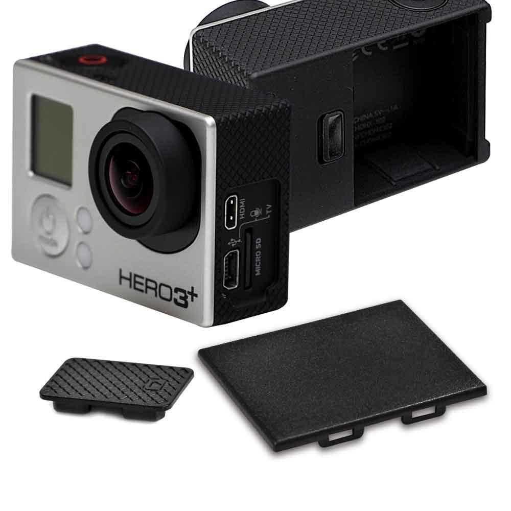 GoPro HERO 3+ 3 副廠 電池蓋+攝像機側蓋 防塵保護組