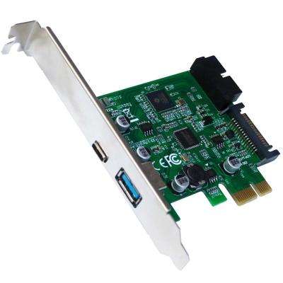 伽利略PCI-E USB 3.0 1A+1C + 前置19 PIN