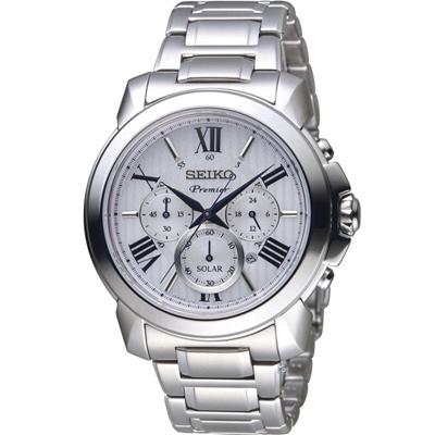 SEIKO精工PREMIER經典傳現計時腕錶(V175-0EH0S SSC595J1)