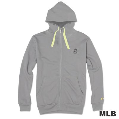 MLB-紐約洋基隊連帽運動外套-灰(男)
