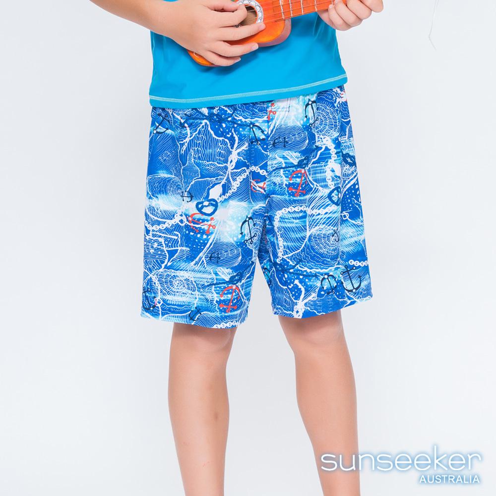 澳洲Sunseeker泳裝抗UV防曬海灘褲泳褲-大男童泳褲/海軍水藍