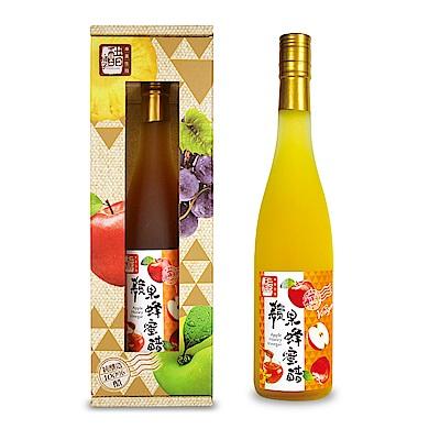 醋桶子 單入果醋禮盒組-蘋果蜂蜜醋(600ml/瓶)
