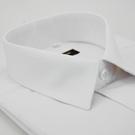 金‧安德森 時尚白暗紋類絲質窄版長袖襯衫fast