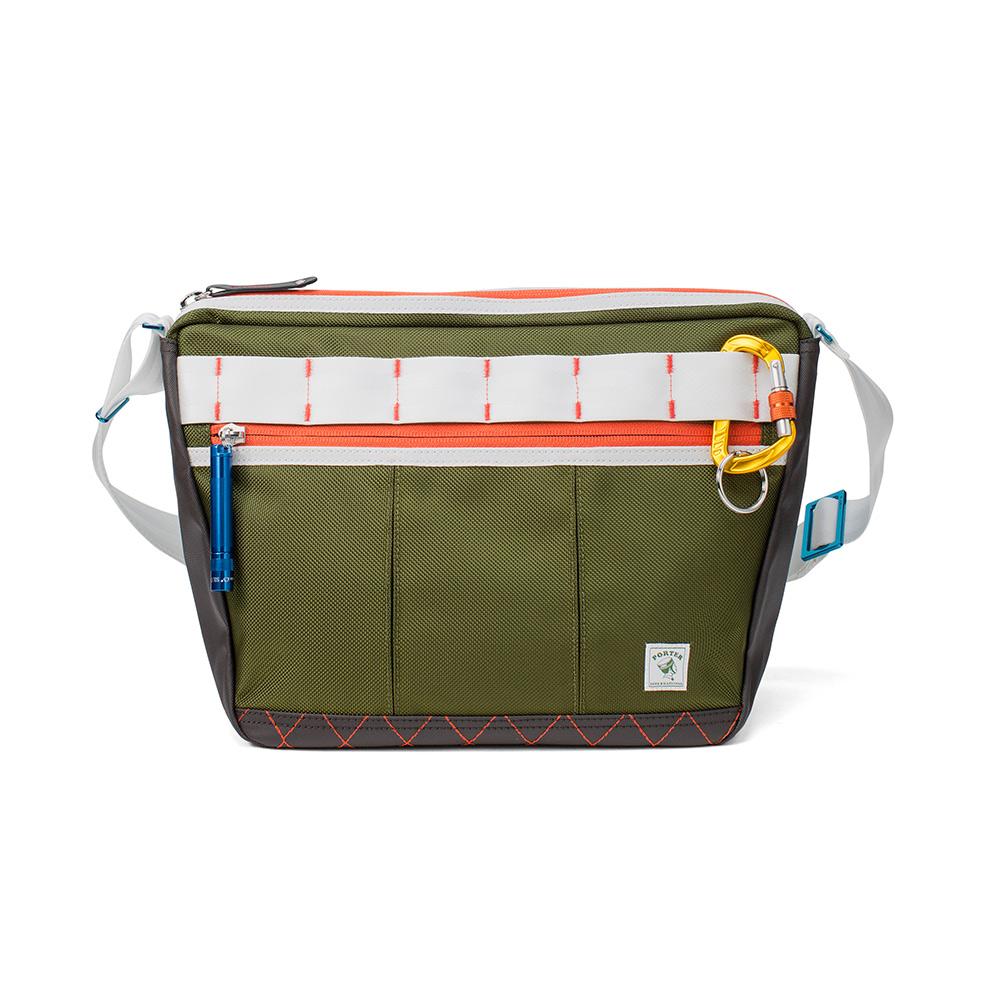 PORTER - 活力無限GEAR UP造型斜背包 - 綠配白