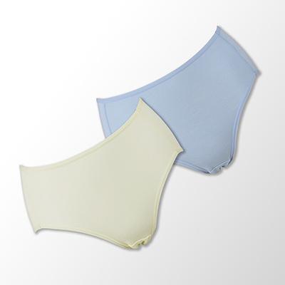 蕾黛絲-伴你一生-牛奶紗-棉褲二件包-高腰-M-EL-藍-黃
