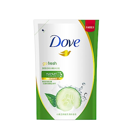 DOVE 多芬 清爽水嫩沐浴乳補充包 650G