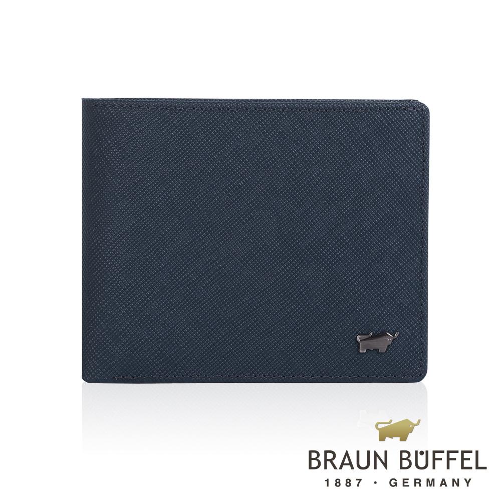 BRAUN BUFFEL - RUFINO-C洛非諾III系列5卡窗格皮夾 - 午夜藍