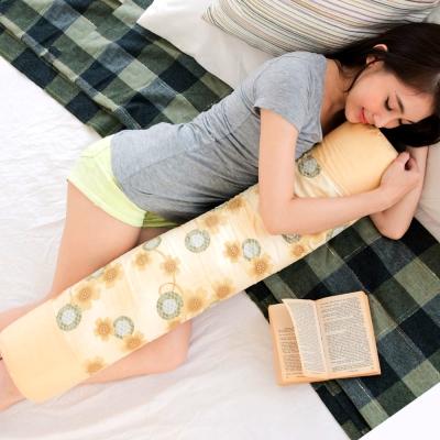 凱蕾絲帝 馬來西亞進口純天然長筒乳膠枕-附純棉布套(可當抱枕/午睡枕)
