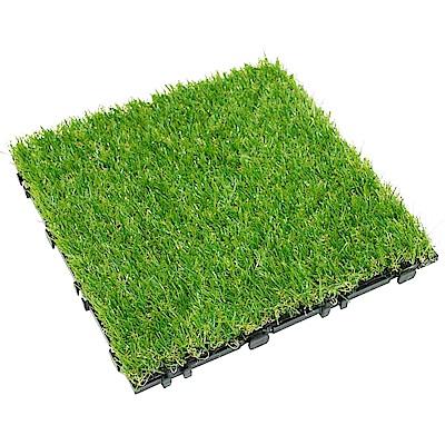 【貝力地板】太陽神DIY造景止滑地板-C007人工草皮(8片/箱)