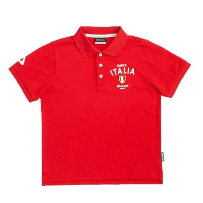 KAPPA義大利小朋友吸濕排汗速乾彩色POLO衫~大紅色