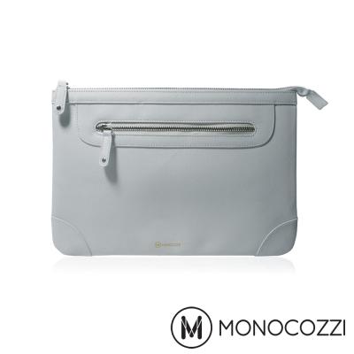 MONOCOZZI Posh Macbook 13 吋皮革保護內袋 - 淡灰藍