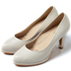 DIANA-超厚切焦糖美人-素色後跟珍珠真皮跟鞋