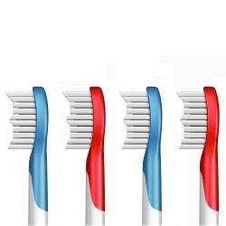 (1卡4入)副廠牙刷頭 HX6042 HX6044_相容飛利浦 PHILIPS 電動牙刷
