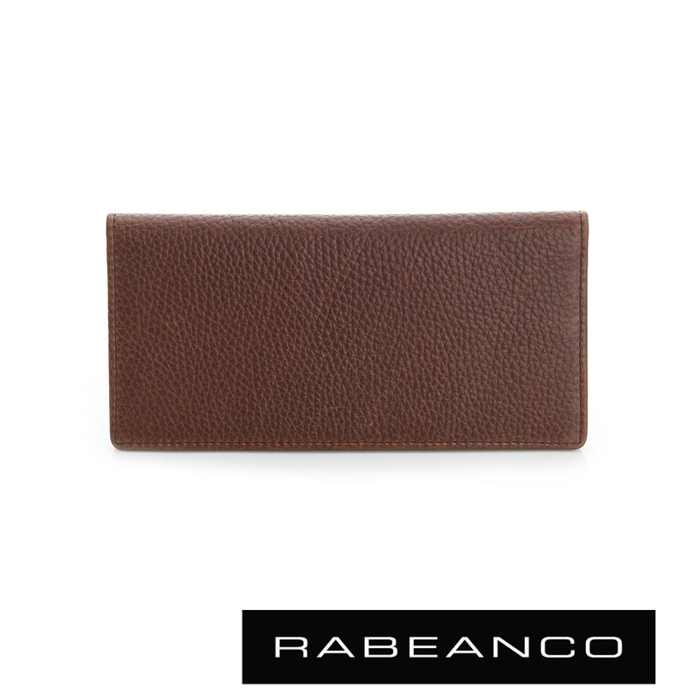 RABEANCO 都會率性系列荔枝紋長夾 咖啡