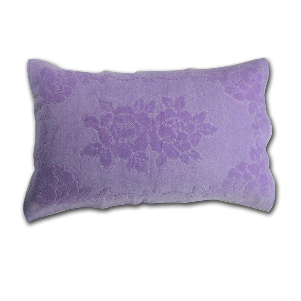 《HOYA active》超柔細純棉壓紋枕巾(2入) 8.淺紫