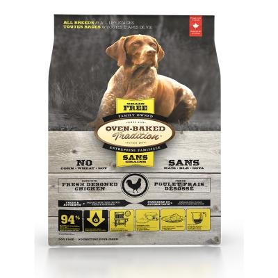 Oven-Baked烘焙客 無穀雞肉配方(大顆粒) 全犬 天然糧 12.5磅 x 1包