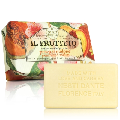 Nesti Dante 天然鮮果系列-杏桃哈蜜瓜皂(250g)X2入