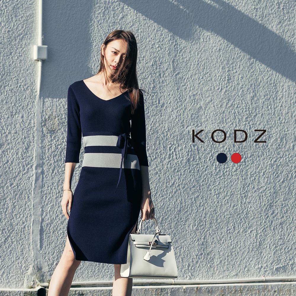 東京著衣-KODZ 雜誌款高質感修身針織洋裝-S.M.L(共二色)