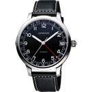 LONGINES Heritage Military1938 24小時機械腕錶-黑42mm