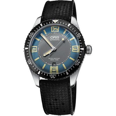 Oris Divers Sixty~Five1965復刻潛水機械錶~藍x黑 40mm