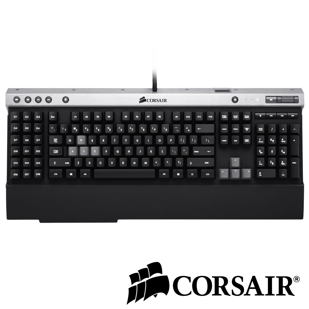 CORSAIR Raptor K50 RGB背光薄膜式電競鍵盤(英文)