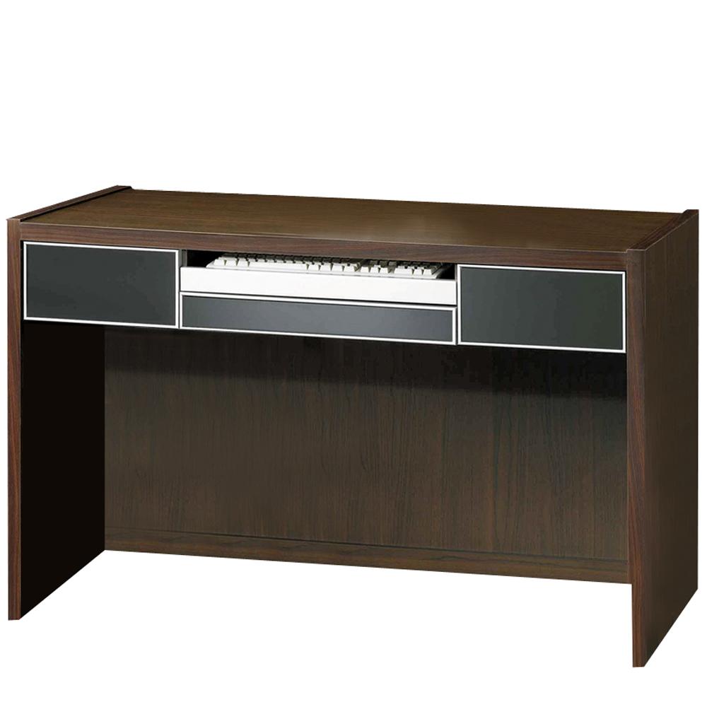 極簡時尚胡桃4.2尺電腦桌