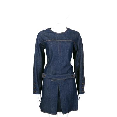 SEE BY CHLOE 深藍色長袖牛仔洋裝(附腰帶)
