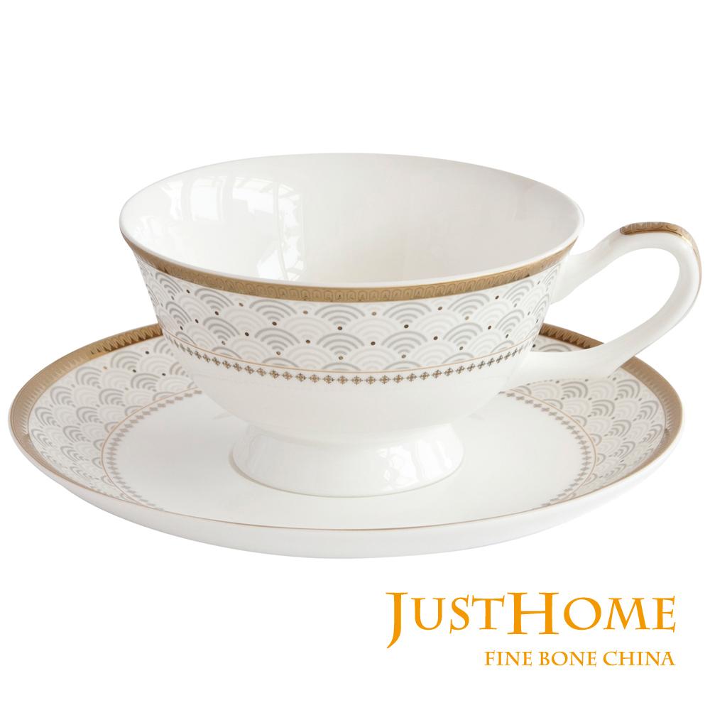 Just Home 安帝斯高級骨瓷2入咖啡杯盤組(附禮盒)