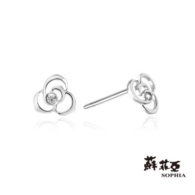 蘇菲亞SOPHIA 鑽石耳環-薔薇鑽石耳環