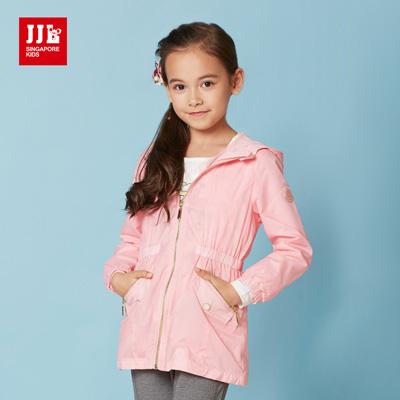 JJLKIDS 貴族時尚防風外套(淺粉色)