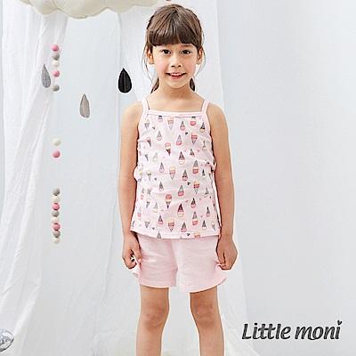 Little moni 棉質網眼素色短褲 (2色可選)