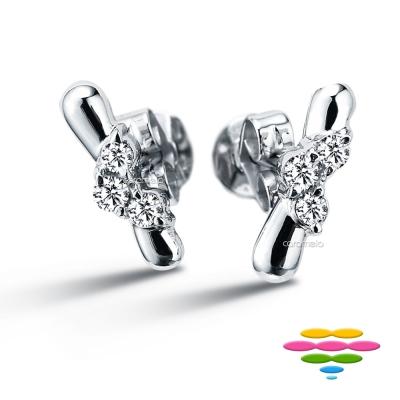 彩糖鑽工坊 雨滴18K鑽石耳環