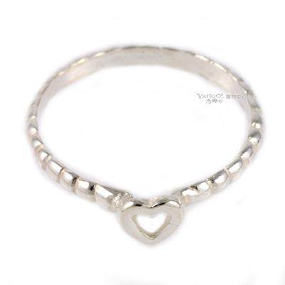 【Gorjana】簡約時尚Tress Heart 銀戒指