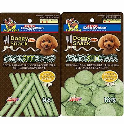 DoggyMan 犬用DSV葉綠素潔牙軟皮骨 十包組